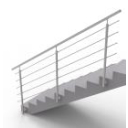 Tube posts for stair - side mounting