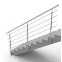 Nerezové zábradlí - kruhové, na schody, boční