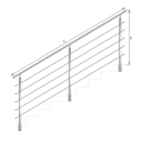 Square tube posts for stair - top mounting