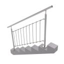 Vertikálne zábradlie - kruhové, na schody, vrchné