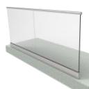 Parapeto in vetro in profilo di alluminio