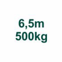 Set 6,5m/500kg