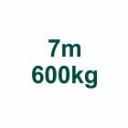 Set 7m/600kg