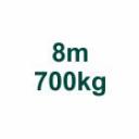 Set 8m/700kg