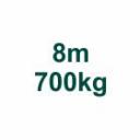 Szett 8m/700kg