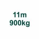 Set 11m/900kg