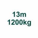 Set 13m/1200kg