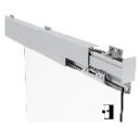 Auto magnetic sliding profile system
