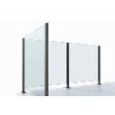 Słupki aluminium - wypełnienie szkłem