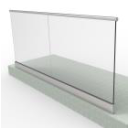 Glass railing sets