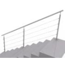 Tube posts for stair - top mounting