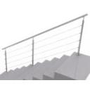 Nerezové zábradlí - kruhové, na schody, vrchní