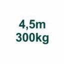 Set 4,5m/300kg