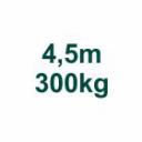Szett 4,5m/300kg