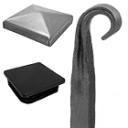 Stangenmaterial und Abdeckkappen