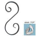 Element spiralny typu S symetryczny