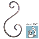 Element spiralny typu S asymetryczny