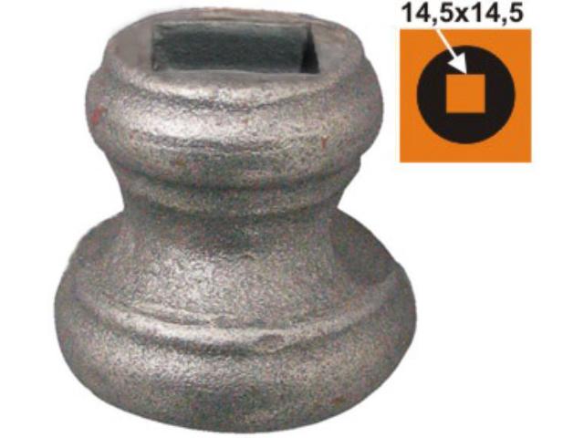 Kovářský průvlak, umělecké kovářství h44xD45mm