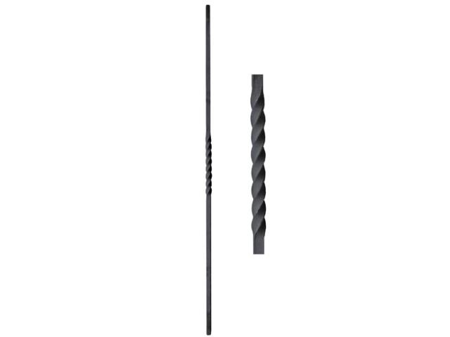 Tyč ozdobná,kovaná,zábradlí,plot,brána h900, 12x12