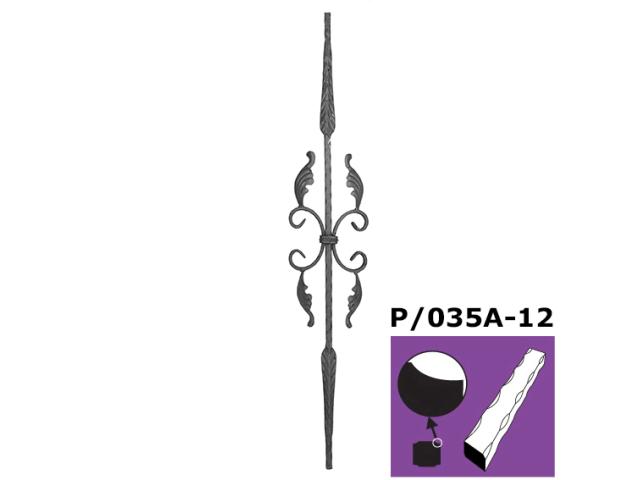 Kovaná výplň zábradlí h900, b170mm, P/035A-12