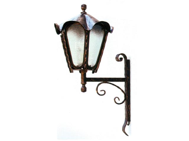 Lámpás-falra 630xD330mm, patina, black
