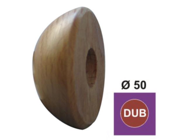 Oak half-ball end cap DUB (OAK), D50mm