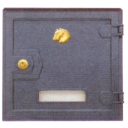 Cast iron postbox plate 280x280mm, cast iron, blac