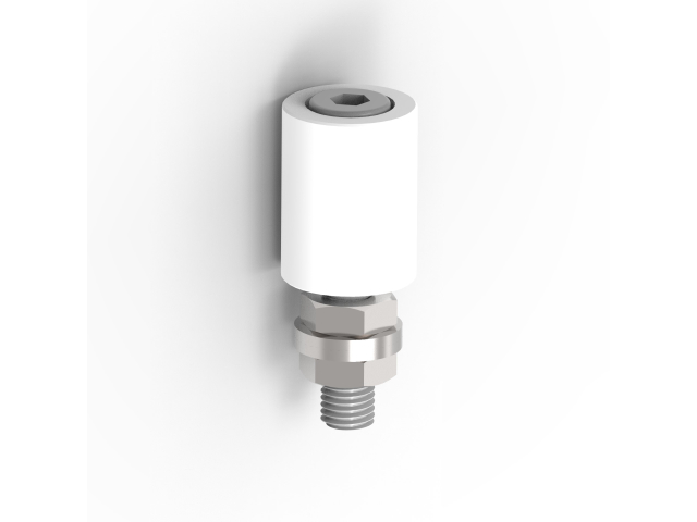 Plastic wheel Zn, D30mm, white