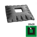 Maskownica ozdobna 77x77, 21,5x21,5, h17mm