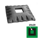 Rozeta 77x77, 21,5x21,5, h17mm
