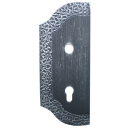 Decorated gate plate - left, 265x105, t3mm, 85mm