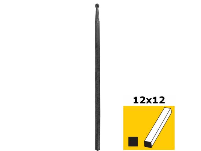 Pole with ball h500, b14, n12x12mm