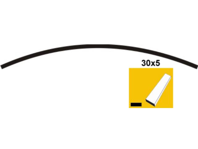 Predhnutý oblúk 30x5, P200, L2450mm