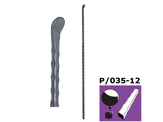 Kovaná špice,brána,plot,plotová tyčka h900, P/035-