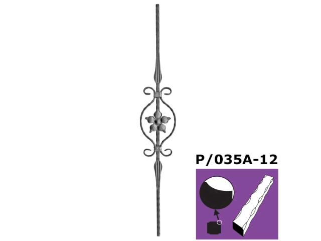 Kovařská výplň zábradlí h900, b140mm, P/035A-12
