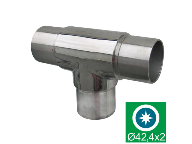Polished stainless steel flush angle connector AIS