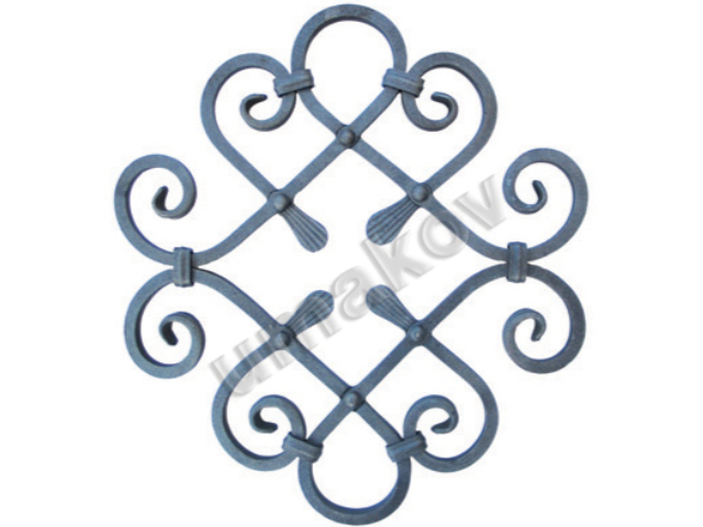 Rozeta kovaná,květ list, plot,brána,zábradlí 460x4