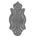 Rosette dekorativ h155, b79, t3mm
