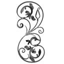 Rozeta kovaná,květ list, plot,brána,zábradlí 740x3