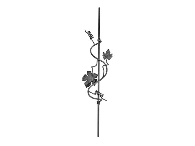 Rozeta kovaná,květ list, plot,brána,zábradlí D12,
