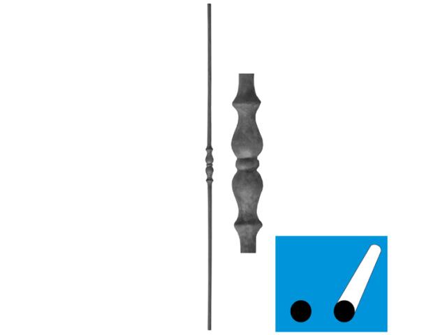 Kovaná výplň zábradlí h1000, b25, D12mm