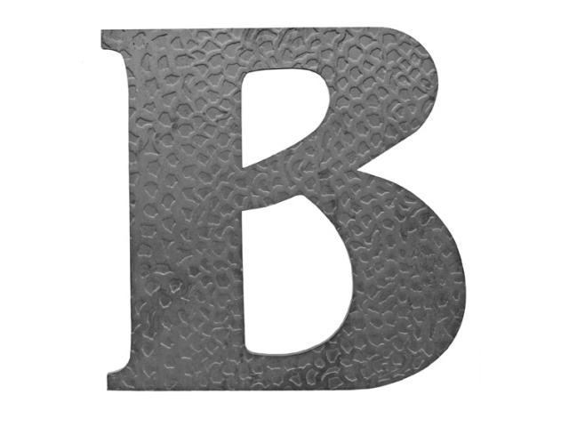 """Písmeno kované """"B"""" h120, t3mm"""