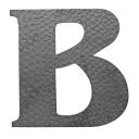 """Písmeno kované """"B"""" h170mm"""