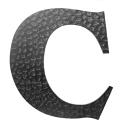 """Písmeno kované """"C"""" h170mm"""