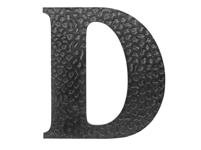 """Písmeno kované """"D"""" h170mm"""