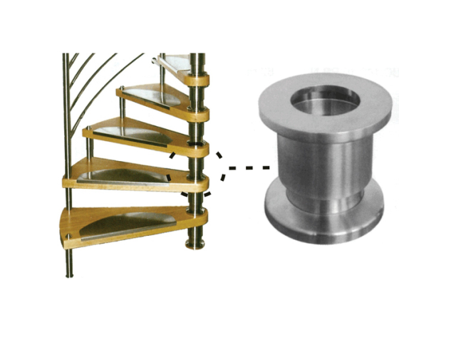 Stair spindle adjustable stainless steel segment A