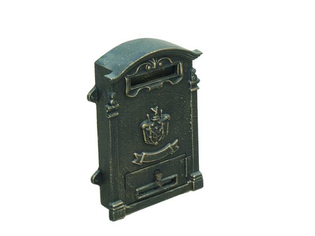 Skrzynka na listy 270x110, h390mm, cast iron, blac