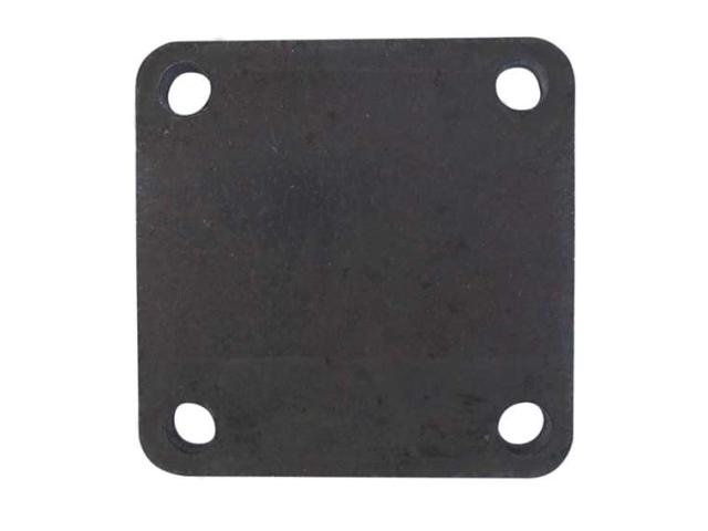 Anchoring plate - rosette 80x80, t8, 4xd10mm