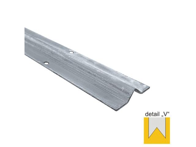 Koľajnička vodiaca spodná -V INOX, L3m