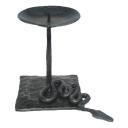 Svietnik kovaný (had s platňou) h130mm, black